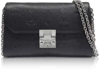 MCM Black Millie Monogrammed Leather Small Crossbody Bag