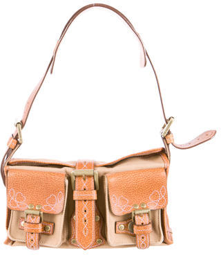 Mulberry Roxanne Canvas Shoulder Bag $205 thestylecure.com