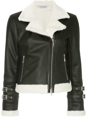 GUILD PRIME shearling biker jacket