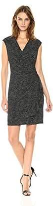 Anne Klein Women's Vneck Ruffled Skirt-Printed Ity