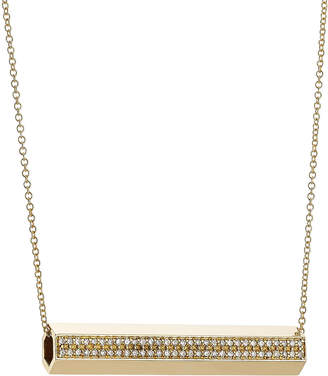 Ileana Makri 18-Karat Gold Pipe Necklace with Diamonds