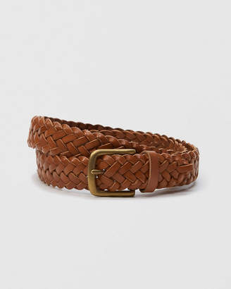 Abercrombie & Fitch 1 1/4-Inch Braided Leather Belt