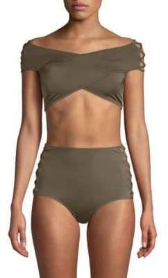 OYE Swimwear Lucette Lace-Up Two-Piece Bikini