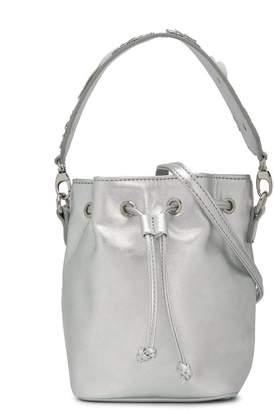 Simonetta metallic bucket bag
