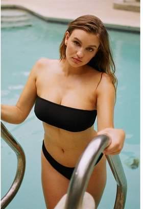 Garage Ribbed Bandeau Bikini Top