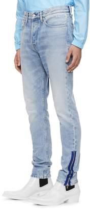 Calvin Klein Jeans Zip Hem Rigid Skinny Jeans