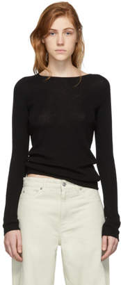 Our Legacy Black Knit Crepe Slim Sweater
