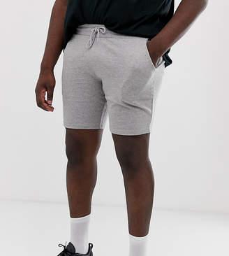 Asos DESIGN plus jersey skinny short in gray