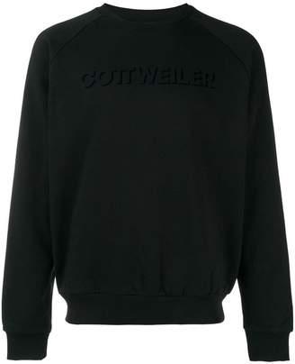 Cottweiler logo print hoodie