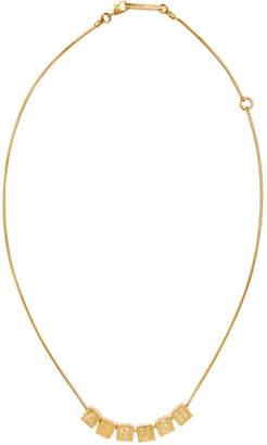 Ambush Gold Letter Block Charm Necklace