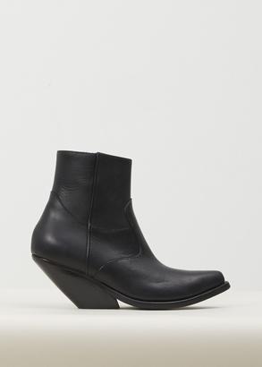 Vetements black cowboy ankle boots $1,530 thestylecure.com