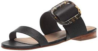 3b103d65cbdbc Kaanas Women's ANTIPAROS Tortoise Shell Buckle Flat Fashion Slide Sandal