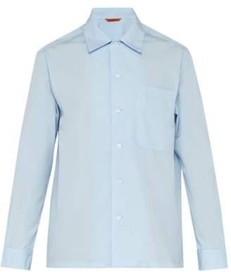 Barena Venezia - Oversized Pocket Cotton Shirt - Mens - Light Blue