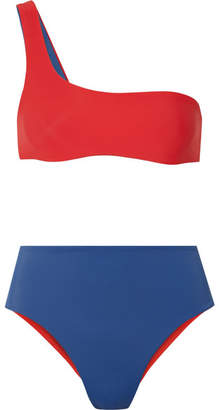 Solid & Striped The Isabeli Reversible One-shoulder Bikini - Red
