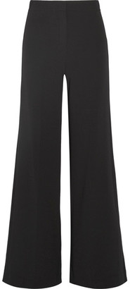 Theory - Terena Stretch-crepe Wide-leg Pants - Black $295 thestylecure.com