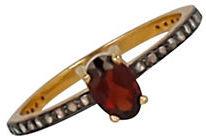 Chan LuuChan Luu 18 TCW Diamond, Garnet and 18K Gold-Plated Sterling Silver Ring