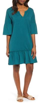 Caslon Ruffle Sleeve Cotton Dress