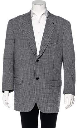 Isaia Wool & Silk Gingham Blazer