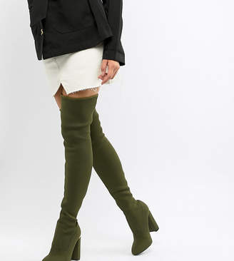d12acb98163b Asos Design DESIGN Koko knitted thigh high boots