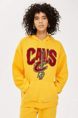 Topshop UNK X Chenille Cavs Hoodie by Unk x