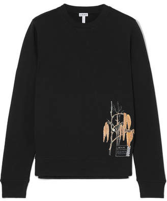 Loewe Printed Cotton-jersey Sweatshirt - Black