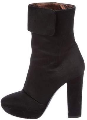 Calvin Klein Collection Ponyhair Zip-Up Boots