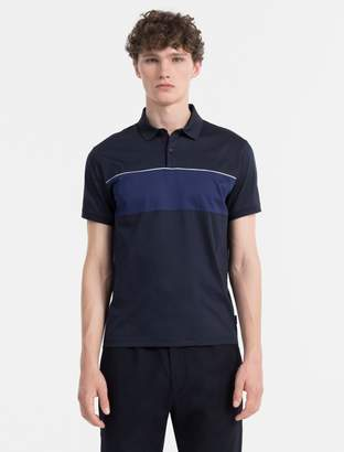 Calvin Klein slim fit colorblock polo shirt