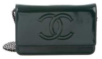 Chanel Patent Timeless Wallet On Chain