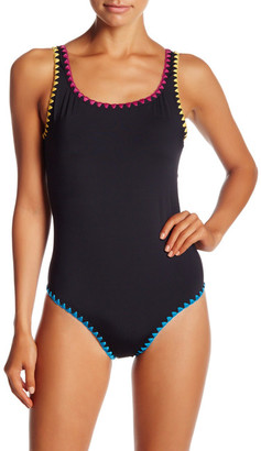 Lucky Brand Night Dreamer One-Piece Bathing Suit $98 thestylecure.com