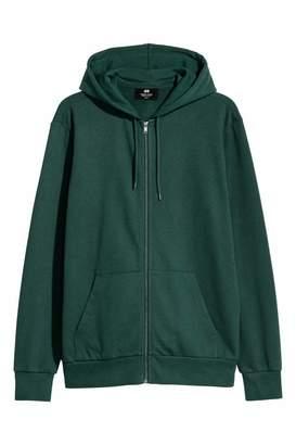 H&M Hooded Jacket Regular fit - Dark green - Men