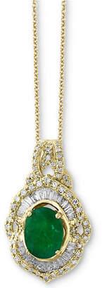 Effy Brasilica by Emerald (1-1/8 ct. t.w.) & Diamond (1/2 ct. t.w.) Pendant Necklace in 14k Gold