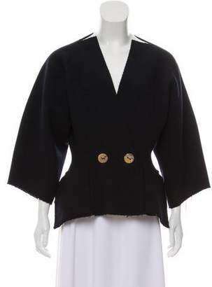 Maison Rabih Kayrouz Distressed Wool Jacket