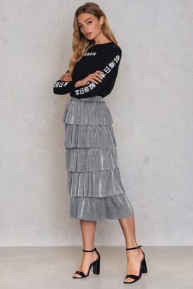 Na Kd Party Layer Metallic Midi skirt