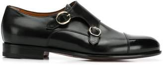 Santoni almond toe monk shoes