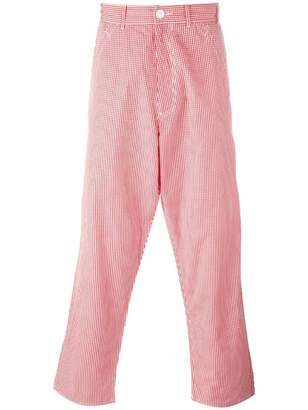 Comme des Garcons Pre-Owned gingham check trousers