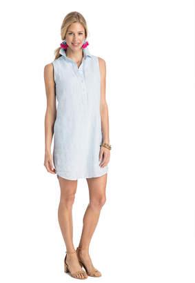 Vineyard Vines Tiny Breeze Stripe Sleeveless Shirt Dress
