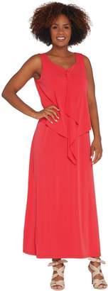Susan Graver Regular Liquid Knit Tiered Maxi Dress