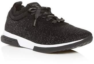 Ted Baker Women's Lyara Glitter Knit Low-Top Sneakers