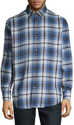 Izod Long-Sleeve Flannel Shirt