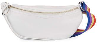 Rebecca Minkoff Bree Leather Belt Bag with Rainbow Web