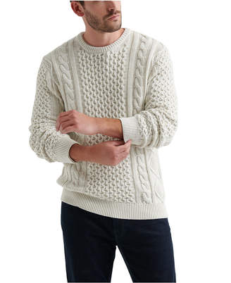 Lucky Brand Men Iconic Cable Crewneck Sweater