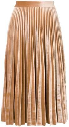 MSGM pleated metallic skirt