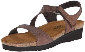 Naot Footwear Women's PAMELA T-Strap Black Sandals 39 M EU