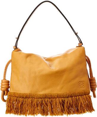 Loewe Flamenco Flap Leather Shoulder Bag
