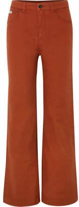 ALEXACHUNG High-rise Wide-leg Jeans - Brown