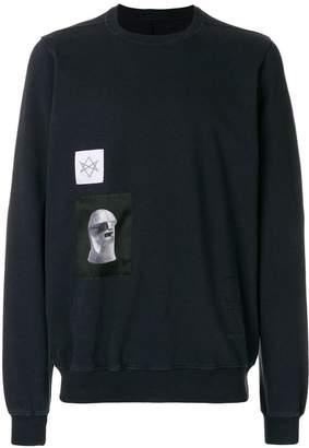 Rick Owens patch detail sweatshirt