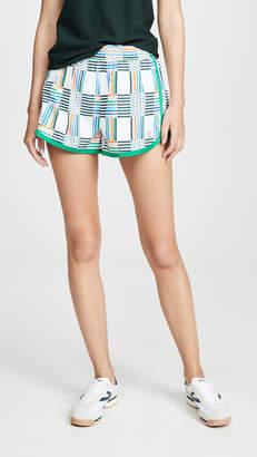 Tory Sport Printed Nylon Running Shorts