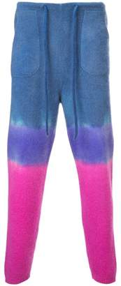 The Elder Statesman knitted tie-dye track trousers