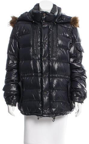MonclerMoncler Rod Fur-Trimmed Coat