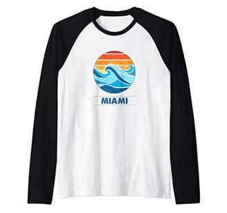 Miami Surf T-Shirts Raglan Baseball Tee